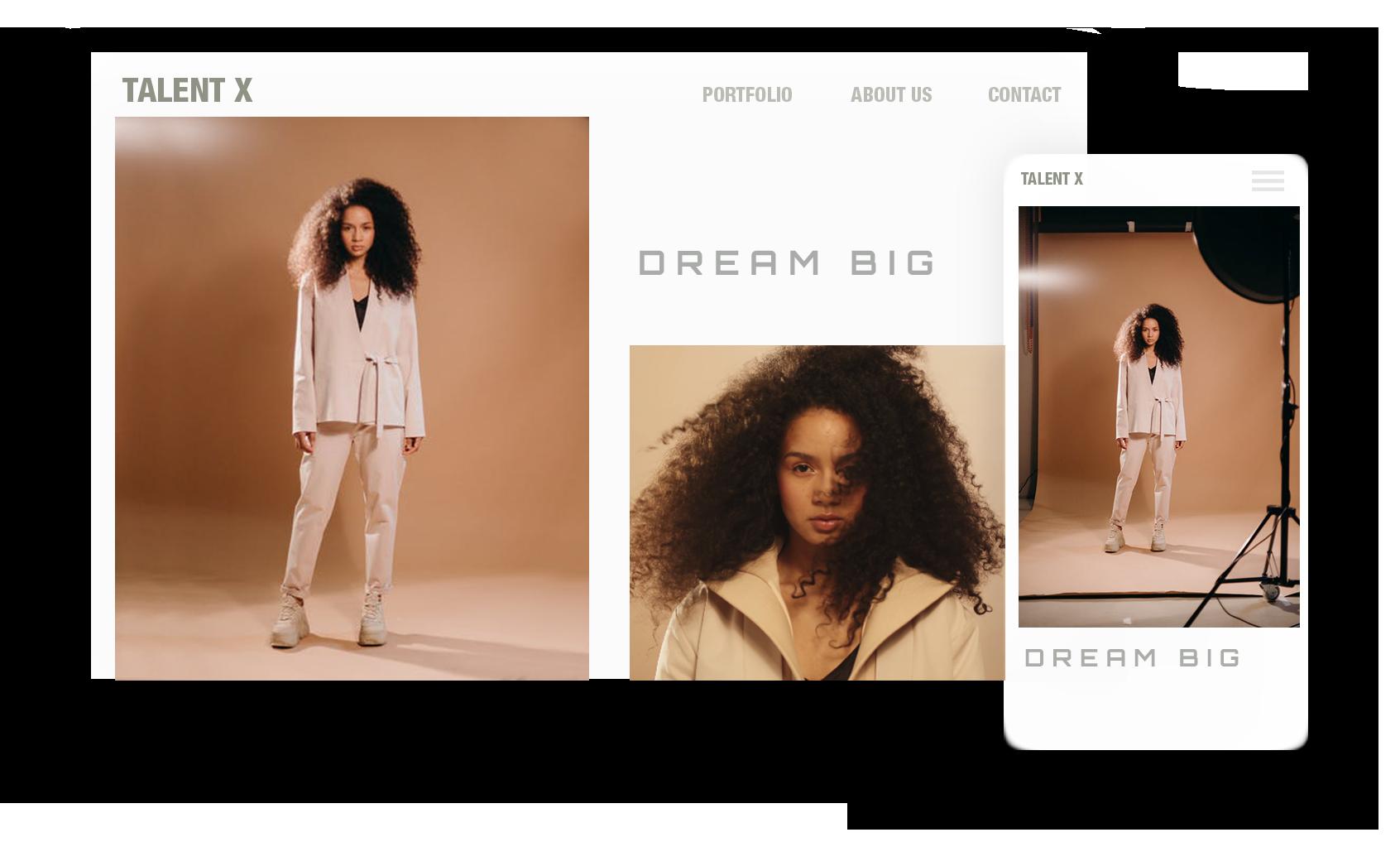 Pixi Europe Digital Agency - Homepage Mockup